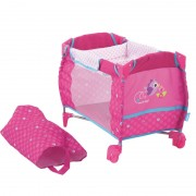 Pat papusi Doll Baby Center Birdie, material lavabil, sac pentru transport
