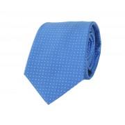 Krawatte Seide Blau Punkte - Blau