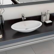 vidaXL fehér ásványöntvény/márványöntvény mosdókagyló 59,3x35,1x10,7 cm