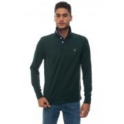 Gant Polo manica lunga Verde Cotone Uomo