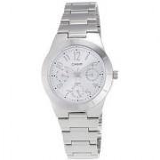 Casio Quartz White Round Women Watch SH147