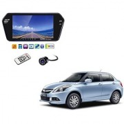 7 Inch Full HD Bluetooth LED Video Monitor Screen with USB Bluetooth + 8 LED Reverse Parking Camera For Maruti Suzuki Swift Dezire