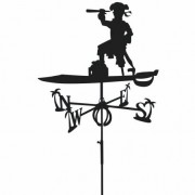 Svens Girouette Pirate en fer forgé Grand modèle