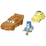 Masinute Disney Pixar Cars 3 Lightning Mcqueen As Chester Whipplefilter And Luigi And Guido With Cloth