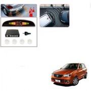 Auto Addict Car White Reverse Parking Sensor With LED Display For Maruti Suzuki Alto K10