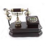 Telefon vintagepe suport din lemn dreptunghiular