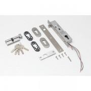 Bolt electric (fail-secure) cu temporizare, senzor magnetic, monitorizare, cilindru cu cheie si led de stare frontal YB-500C(LED)