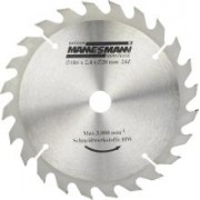 Disc Fierastrau Circular 185 x 20 mm / 24 Dinti - MANNESMANN - M12897