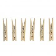 Geen 180x Wasknijpers / wasgoedknijpers van hout met metalen veer
