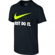Tricou copii Nike JDI SWOOSH TEE YTH negru S