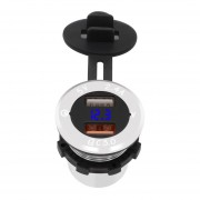 ZH-750D11 Smart Phone Charger Car Aluminio Pantalla Digital Qc3.4 Fast Charge