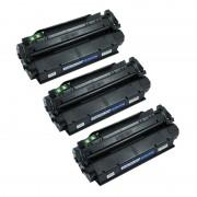 Zipzap Q2613X/C7115X Pack 3 Tóners Compatibles HP Negro