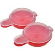 Shrih Set Of 2 Innovative Microwave SH - 01668 Egg Cooker(Red, 4 Eggs)