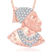 Vk Jewels Shivaji Maharaj Rose Pendant With Chain For Men Women - P1942G Vkp1942G