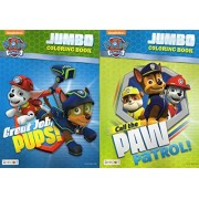 Paw Patrol Jumbo Coloring and Activity Book - Call the Paw / Great Job, Pups [Set of 2 Books] - v1 by Coloring Activity Book