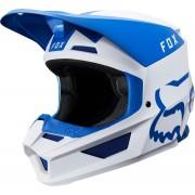 FOX V1 Mata Capacete de motocross Branco Turquesa Azul XL