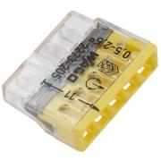 Set 10 conectori cu fixare prin impingere 5 conductoare 2,5mm2 24A Wago 2273-205
