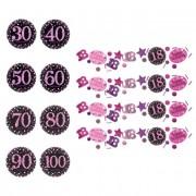 Liragram Confetti de Pink Birthday con número de 34 g - Número 100