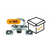 Set: 100 Verzinkte Zurrösen für Anhänger H-19 mm (19.51)