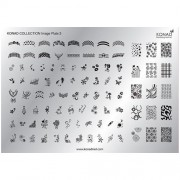 KONAD Collection nagel stempel plaat GROOT 3