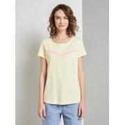 TOM TAILOR DENIM Nena & Larissa: T-shirt met print strepen, Dames, pale yellow, L
