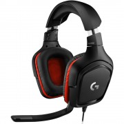 HEADPHONES, LOGITECH G332, Gaming, Microphone, Black
