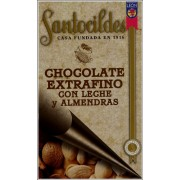 CHOCOLATE EXTRAFINO CON LECHE Y ALMENDRAS 200 GRS