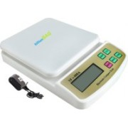 Billionbag Advanced Multi-Purpose SF 400A with Adaptor 10 Kg Digital Household Use And Backlight Weighing Scale(White)