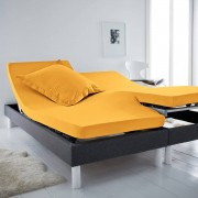 La Redoute Interieurs Lençol-capa em algodão, cama articulada, SCENARIOAmarelo-Mostarda- 140 x 190 cm