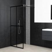 vidaXL Paravan de duș walk-in, 90 x 195 cm, sticlă securizată