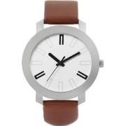 Ismart Round Dail Brown Leather StrapMens Quartz Watch For Men