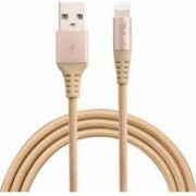 Cablu de date Tellur USB - Lightning MFI Kevlar 1m Auriu