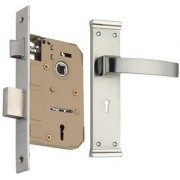 Spider Zinc Mortice Key Lock Complete Set With CP SS Finish (ZZ20MCS + EMLS)