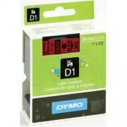 Dymo 53717 - Dymo D1 Tape svart på röd 24mm x 7m