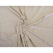 Bézs - arany színű minky textil 160 cm széles