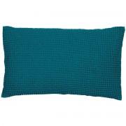 Miliboo Coussin en coton lavé couleur bleu topaze 30 x 50 cm YAM