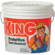 colorificio partenopeo King Vernice Acrilica Protettiva Per Guaina Colore Bianco 14 Litri - King