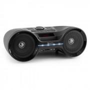Boombastic LED Aparelhagem Portátil Boombox Bluetooth USB SD MP3 FM AUX