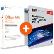 Pack Office 365 Personnel + Bitdefender Antivirus Plus 2019 - 1 PC - 1 an