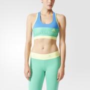 adidas Women's Stellasport Gym Bra - Blue/Yellow - M/UK 12-14 - Blue