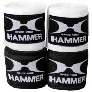 HAMMER BOXING Trainingszubehör Boxbandagen, elastisch, 4.5 m - weiß
