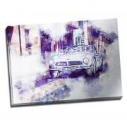 Tablou masina vintage in tonuri violet