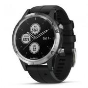 Garmin Zegarek sportowy z GPS GARMIN Fenix 5 Plus 47mm Srebrny z czarnym paskiem 010-01988-11