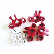Alloy Aluminum Front & Rear Axle Carriers Knuckle Arm Red for 1/16 Mini E REVO SUMMIT SLASH RALLY - 4PCS SET