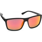Fastrack Wayfarer Sunglasses(Red, Orange)