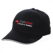 TOURLOGIC Unisex Peaked Golf Cap - Negro