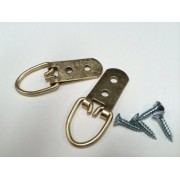 Heavy Duty 2 Hole Hangers 2 Pack for Mirrors & Pictures