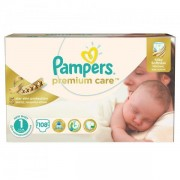 Scutece Premium Care 1 New Baby Jumbo Pack, 108 buc, Pampers
