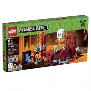 Lego Maincraft Nether 21122 LEGO Minecraft 21122 the Nether Fortress Building Kit [Parallel import goods]