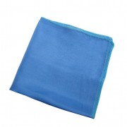 Doek van biologische zijde, lichtblauw l 27 x b 27 cm